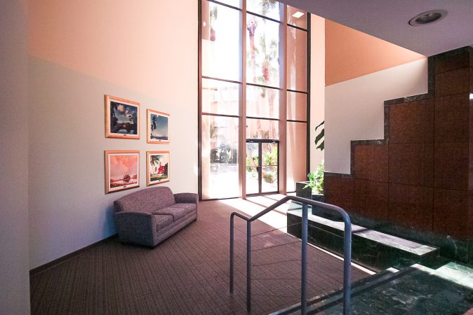 Rear entrance atrium lobby